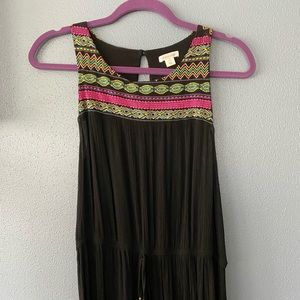 Tribal Black Maxi